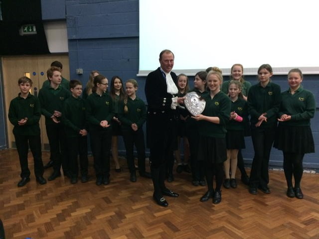 Robert Mays School in Odiham were the winners of the local Winchester round in the Mock Trials Competition