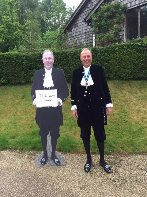 Preparing to receive guests at the High Sheriff's reception on June 23rd