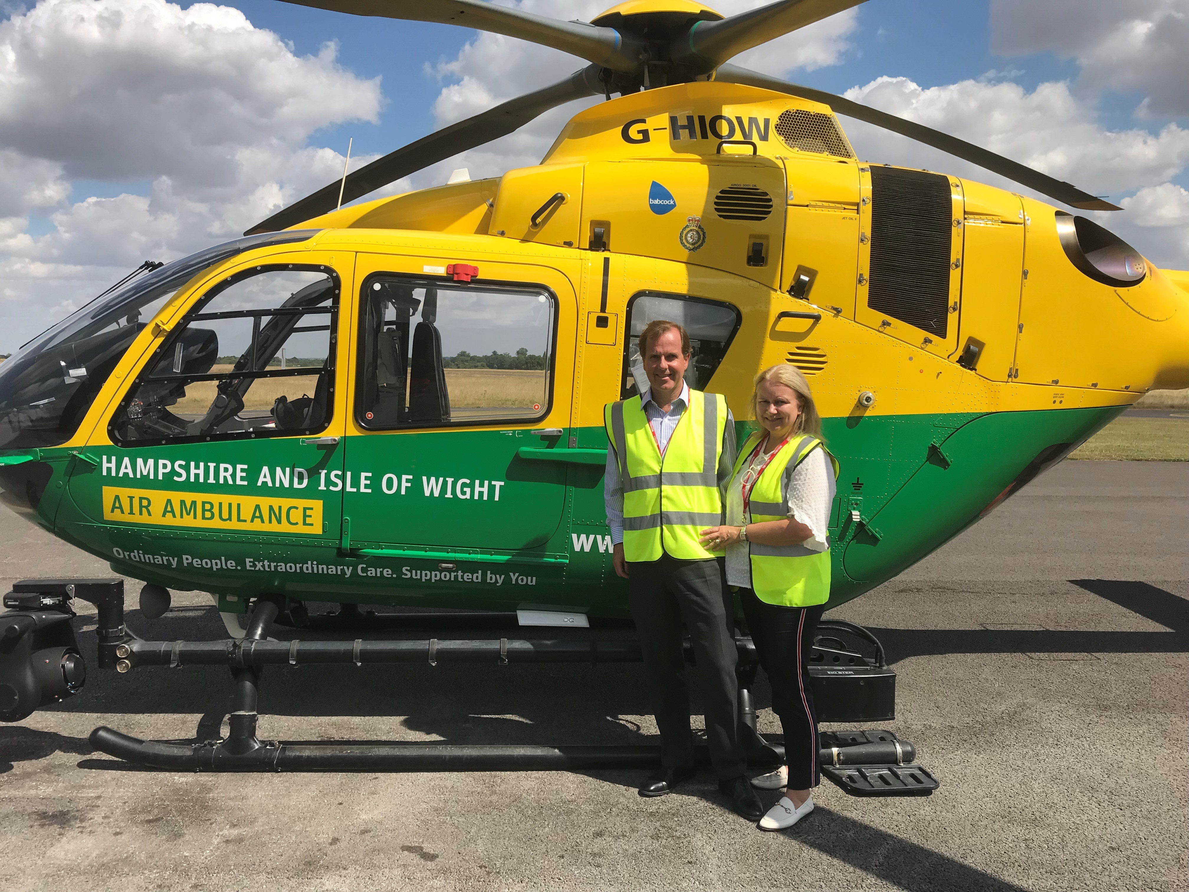 Visit to the Hampshire and Isle of Wight Air Ambulance HQ